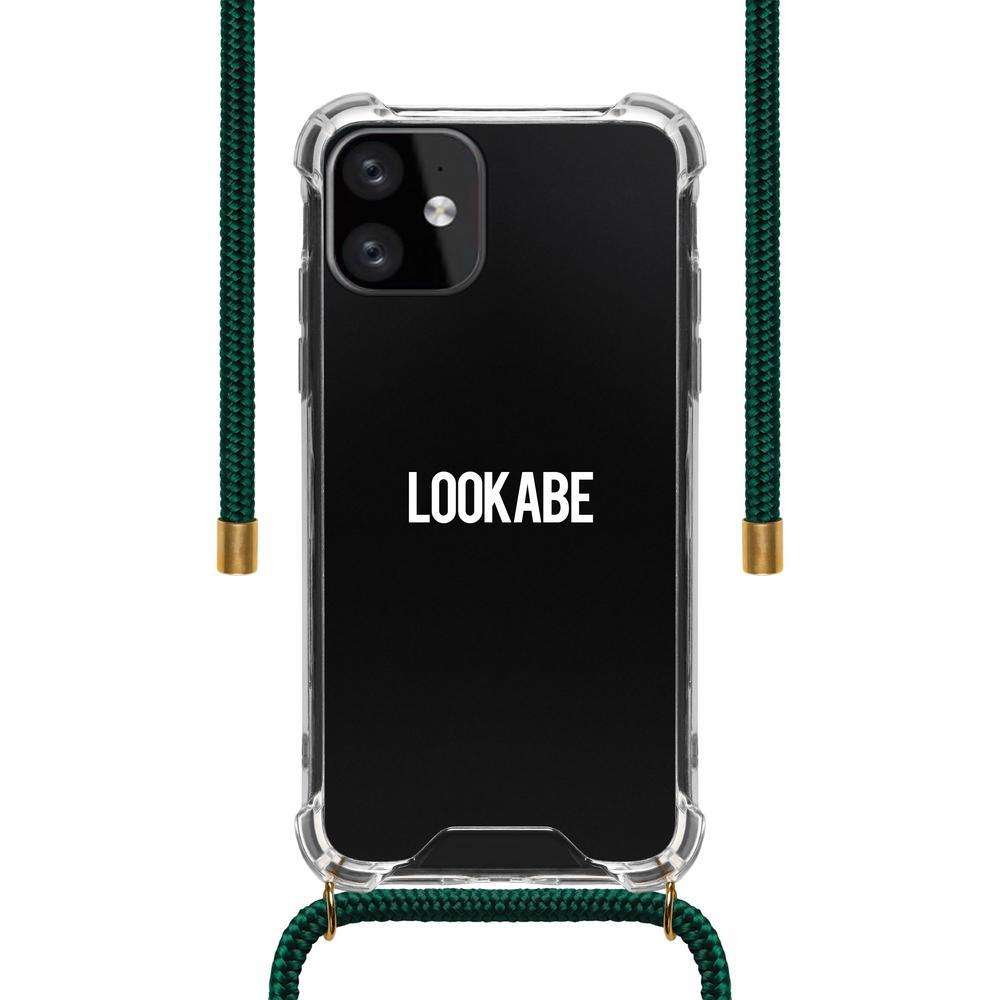 LOOKABE Necklace Clear Case with Cord for iPhone 11 - Green