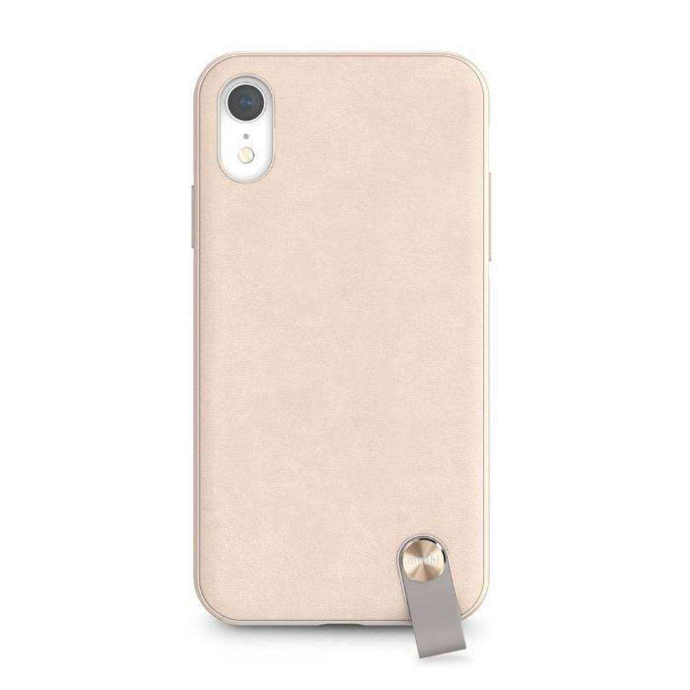 MOSHI Altra Slim Hardshell Case With Strap Savannah Beige for iPhone XR