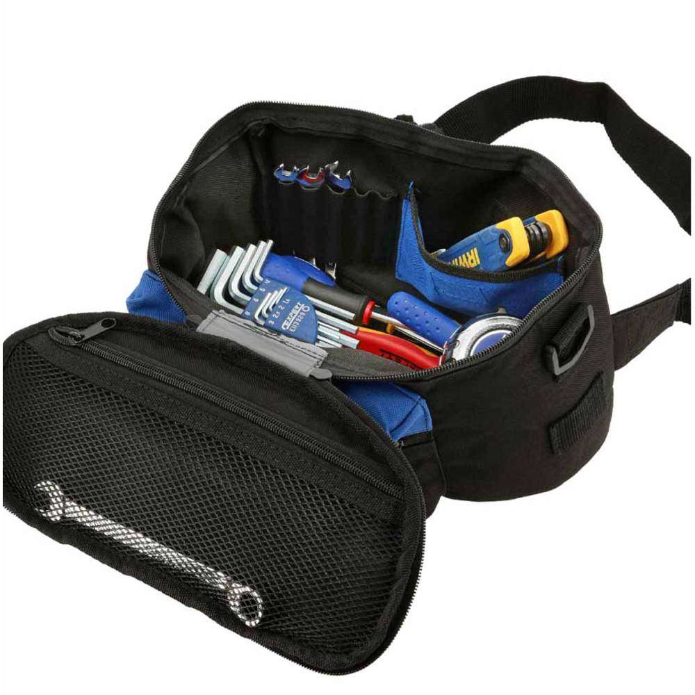 GAZELLE - 8 Pocket Tool Bumbag Size: 11.4in L x 5.12in W x 6.7in H with shoulder strap and belt