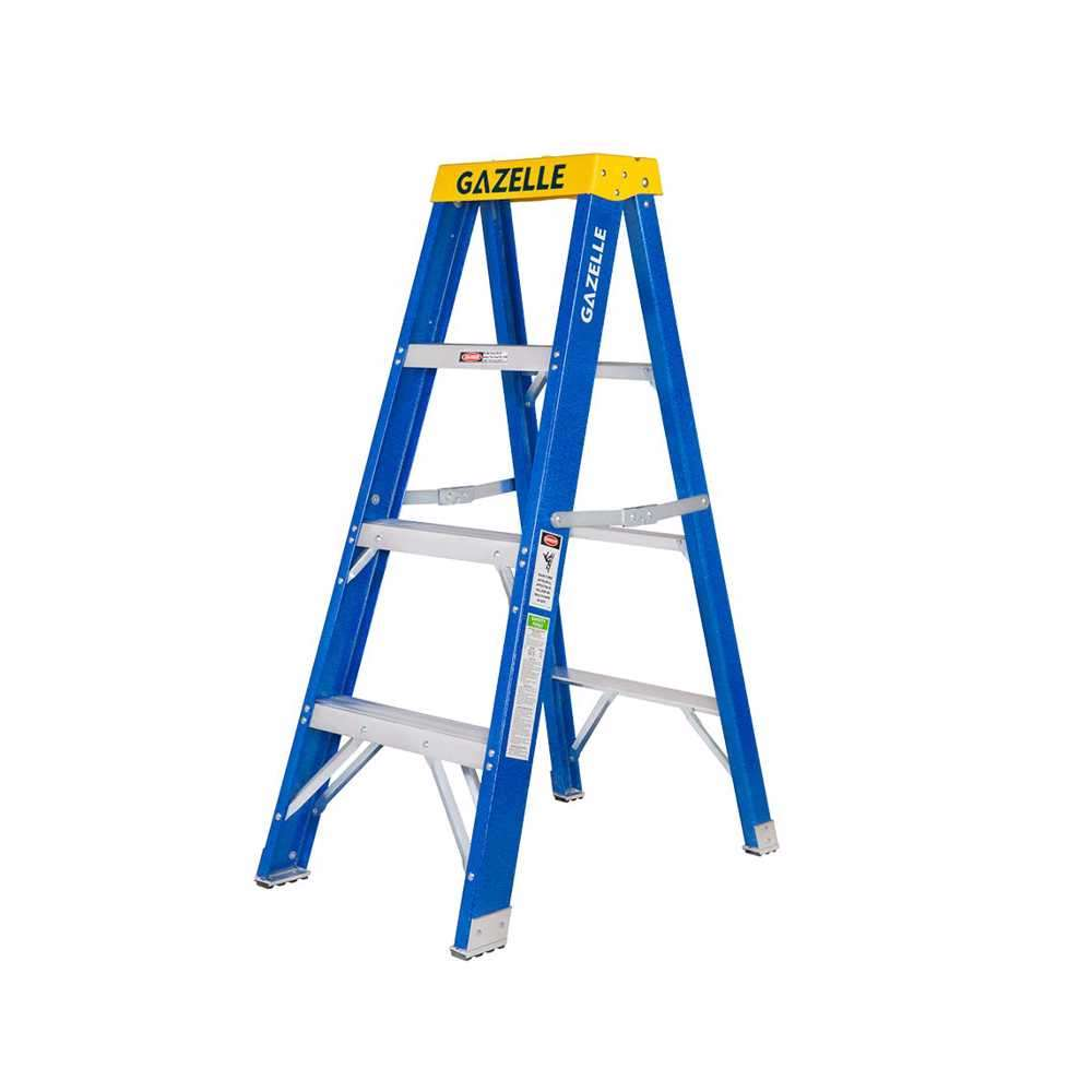 GAZELLE - 4 Ft. Fiberglass Step Ladder for working height up to 8 Ft.