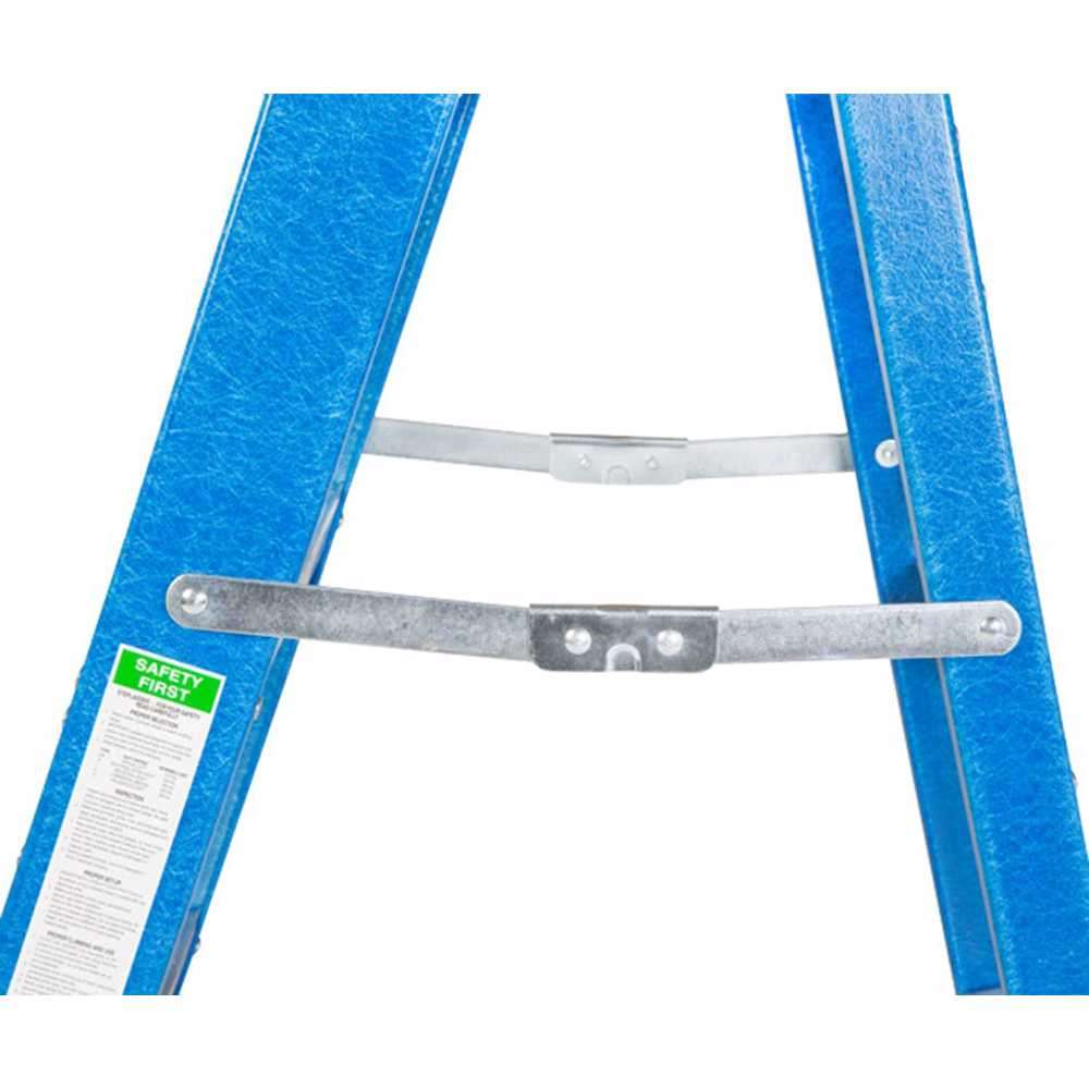 GAZELLE - 10 Ft. Fiberglass Step Ladder for working height up to 14 Ft.