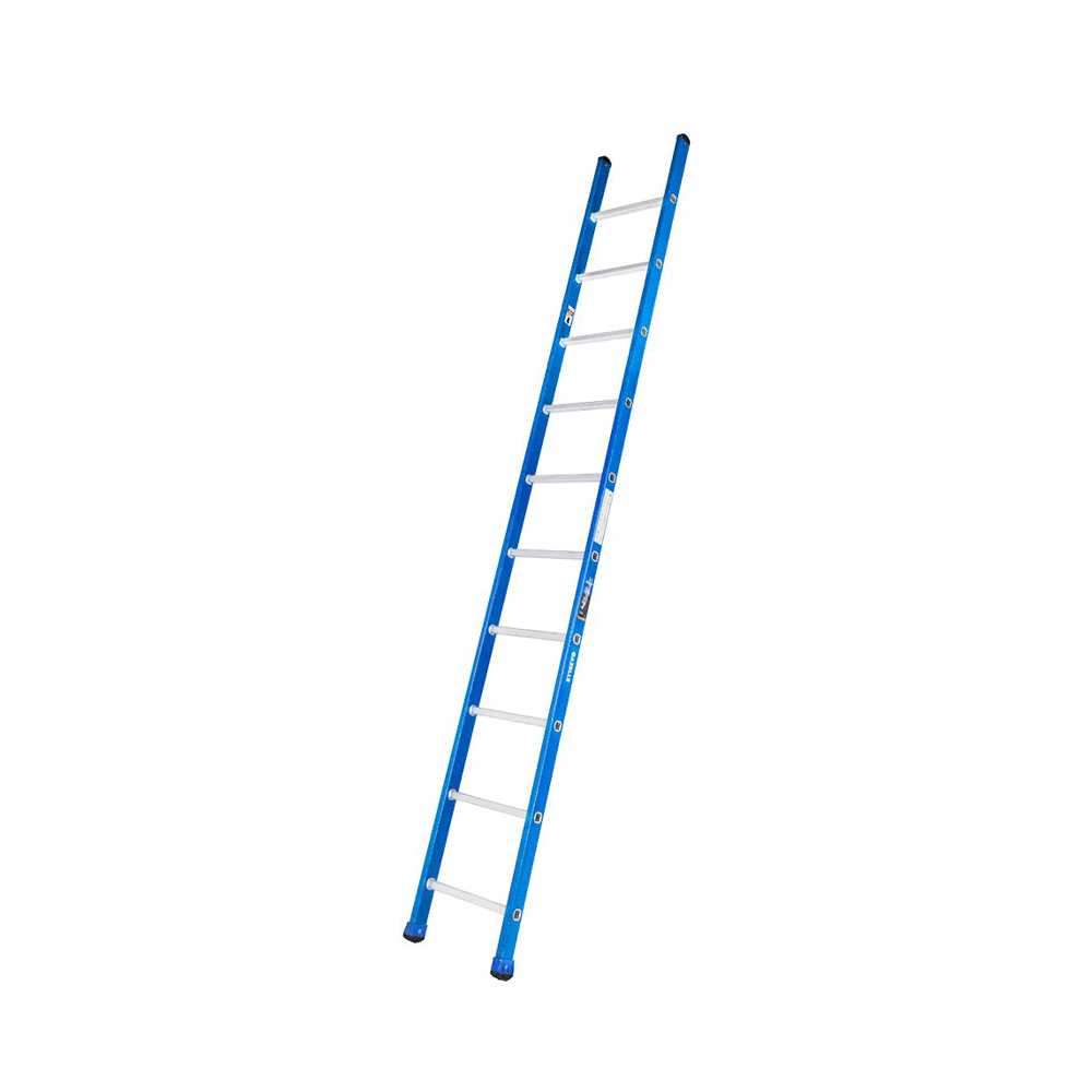 GAZELLE - 10 Ft. Fiberglass Straight Ladder for working height up to 13.5 Ft.