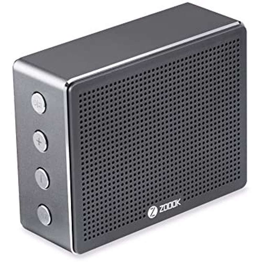 Zoook Metal Body Bluetooth Speaker with 5W Output and 1800mAh Battery. TF Card support - Chrome