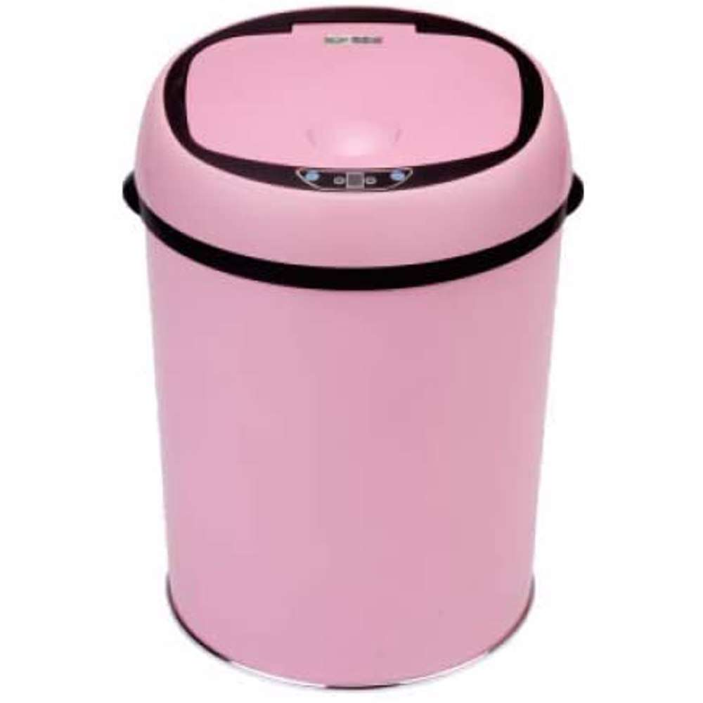 TechMate 9 Liters Automatic Sensor Dustbin with Automatic Opening System - Pink