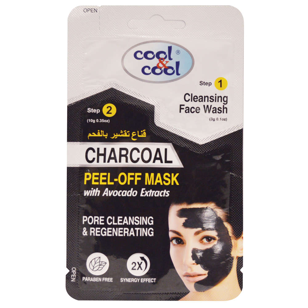 Cool & Cool 2-in-1 Charcoal Peel Off Mask
