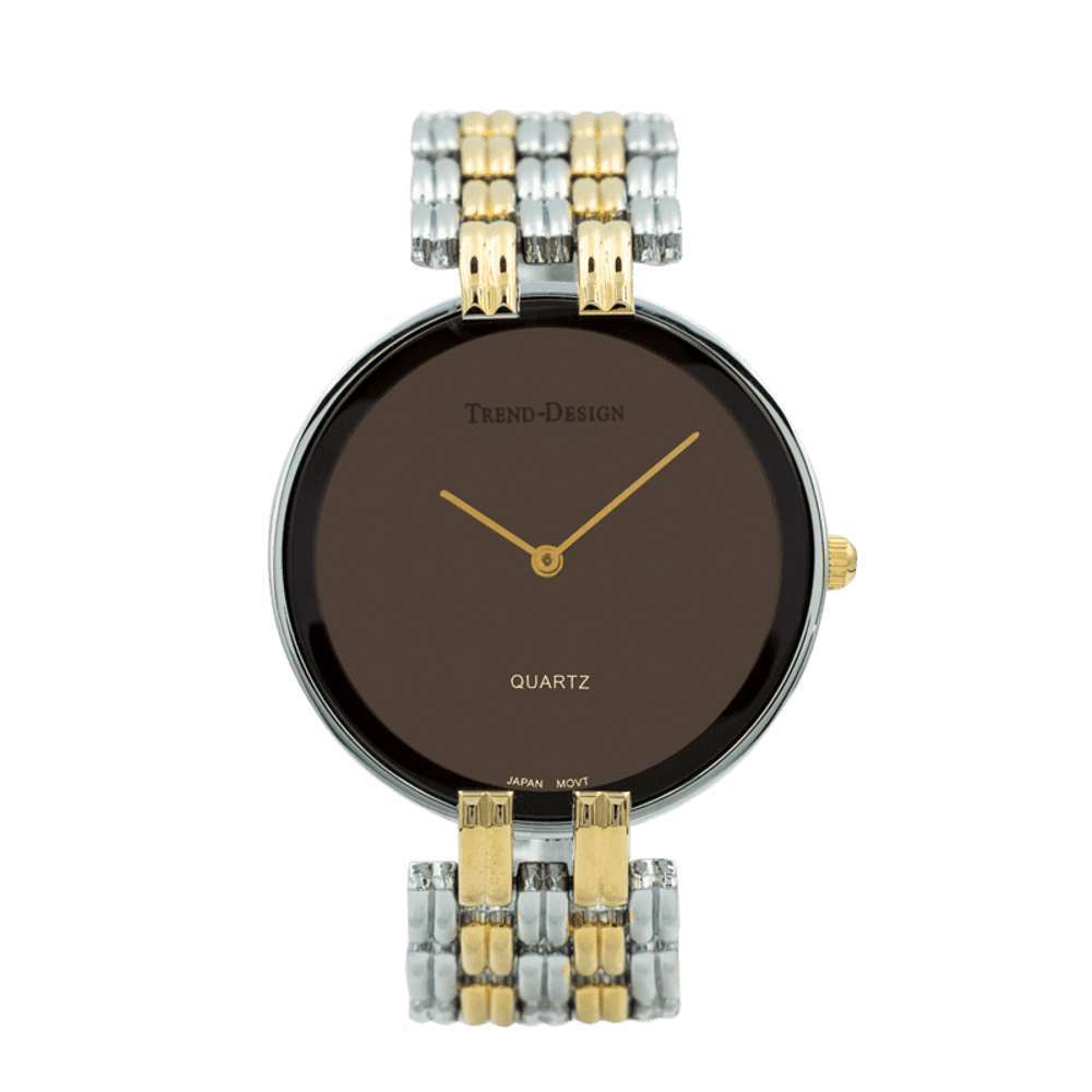 Trend Setter Men''s Two Tone Gold Watch - Alloy Metal TD3101M-4