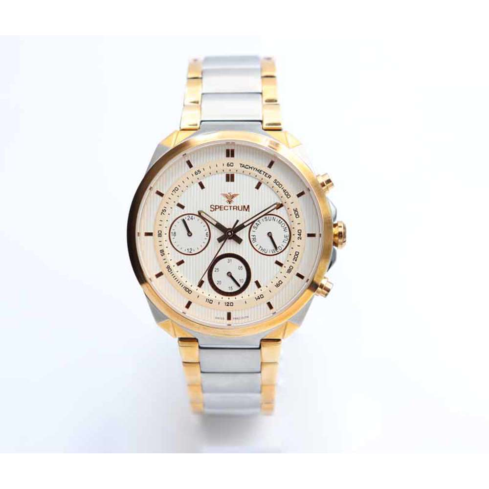 Multidimensional Men''s Two Tone Rose Watch - Stainless Steel S12555M-5