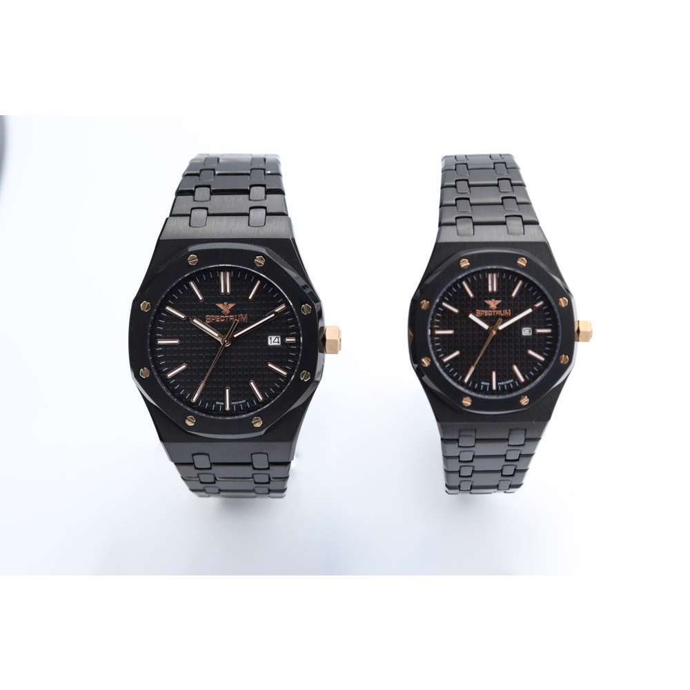 Challenger Pair''s Black Watch - Stainless Steel S12566L-5P