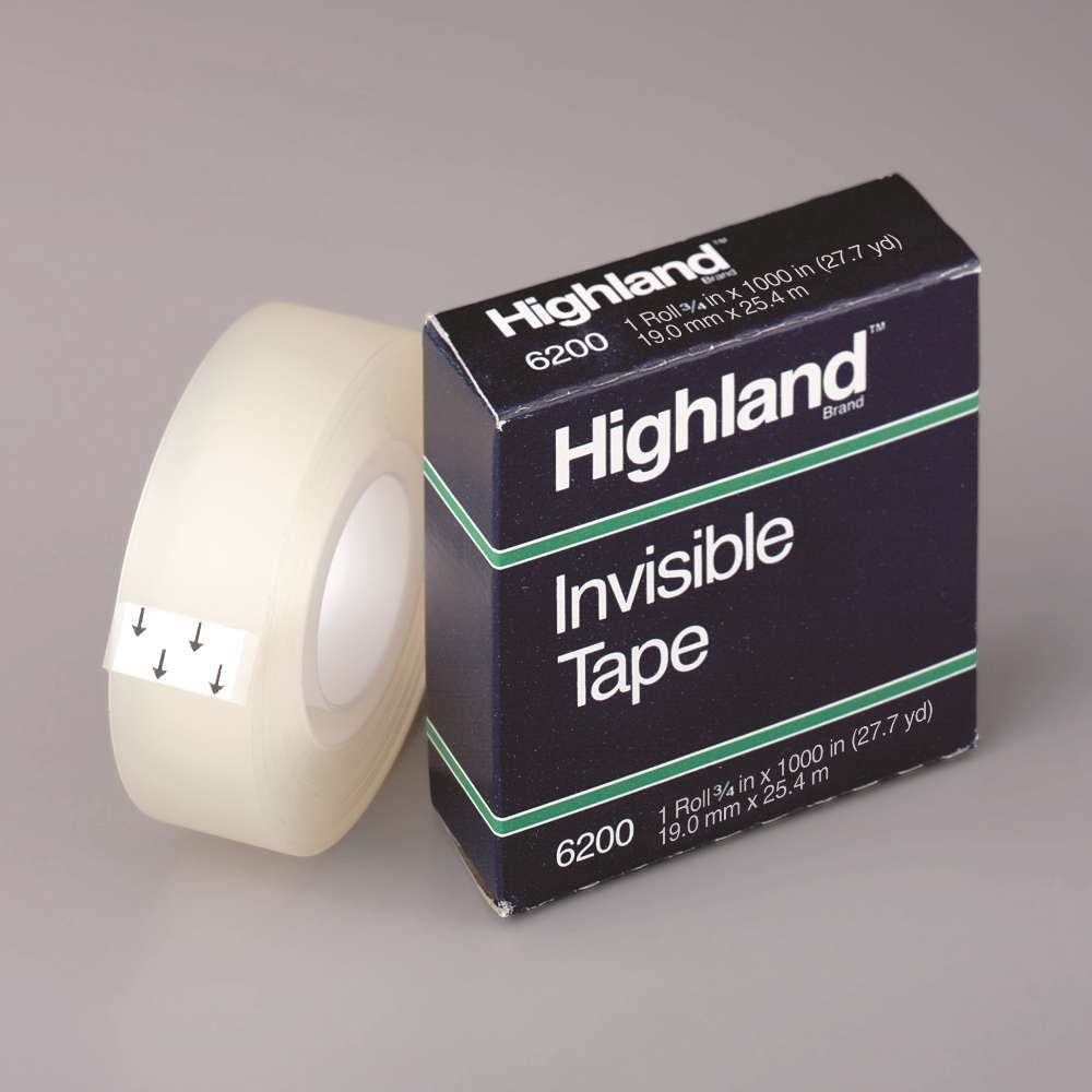 3M 6200 Highland Tape 3/4x36 Yards Bxd