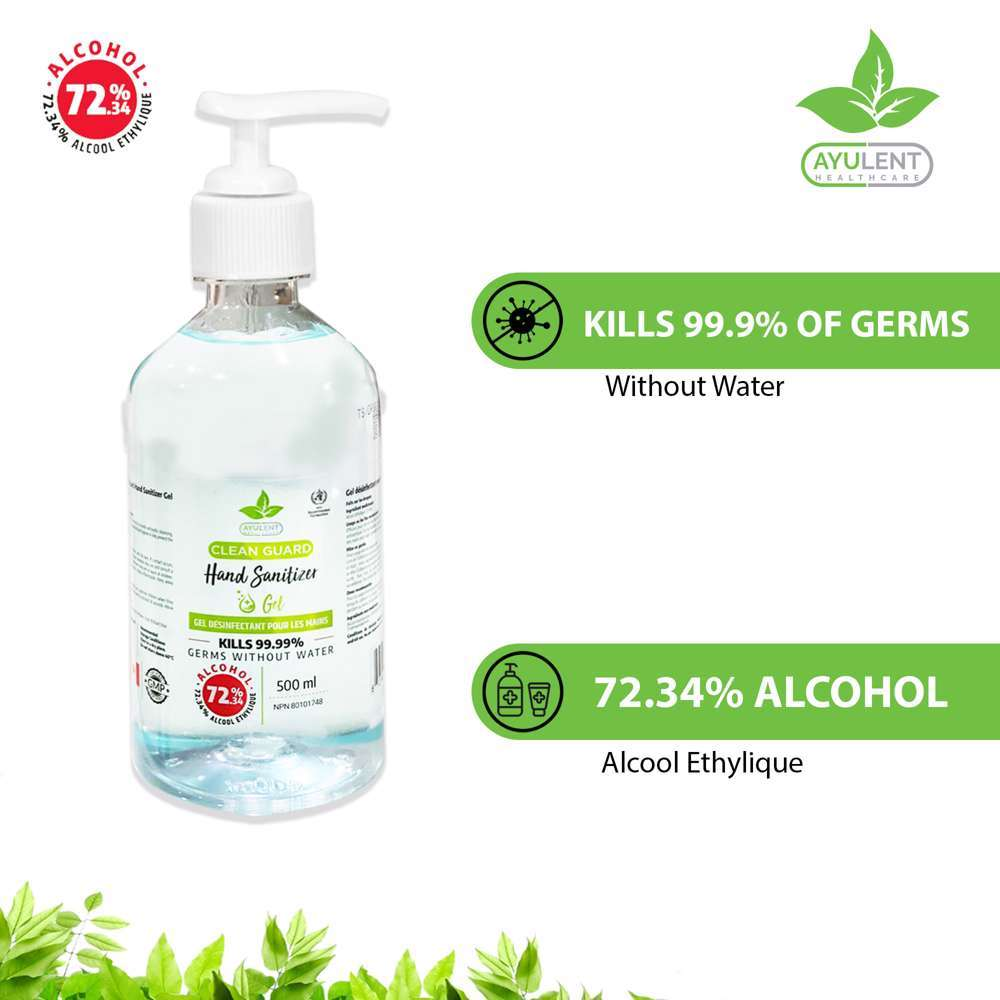 AYULENT Hand Sanitizer Gel with Vitamin E   Advanced Germ Protection - 500 ML