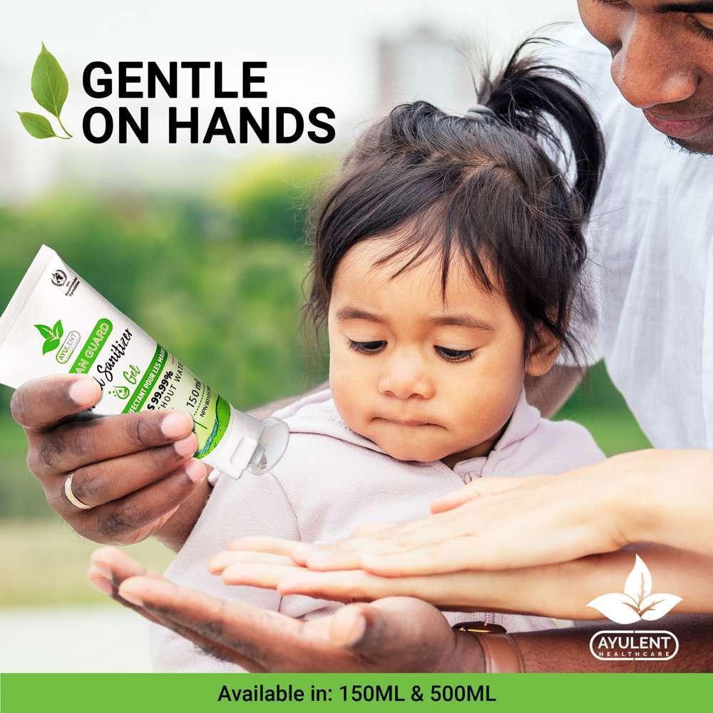 AYULENT Hand Sanitizer Gel with Vitamin E | Advanced Germ Protection - 150 ML