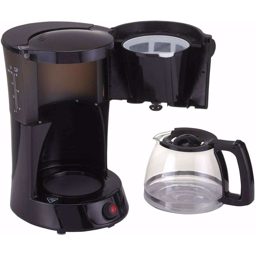 Black+Decker 800W 10 Cup Coffee Maker with 1.25L Glass Carafe and Keep Warm Feature for Drip Coffee and Espresso, DCM600-B5 Black