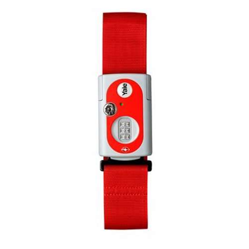 Yale YTL1 Travel Strap Combination Padlock with TSA Device 62 mm Red