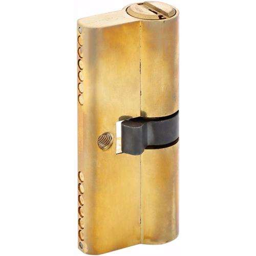 Double Cylinder Door Lock With Dimple/Computerized Key 6 Pin Gold 70 mm