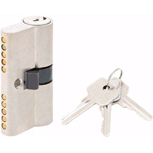 Double Cylinder Lock with Key for Doors 5 Pin Silver 54 mm