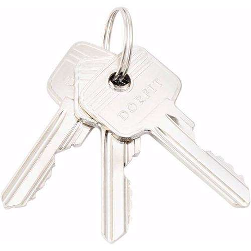 Double Cylinder Lock with Key for Doors 5 Pin Gold 70 mm