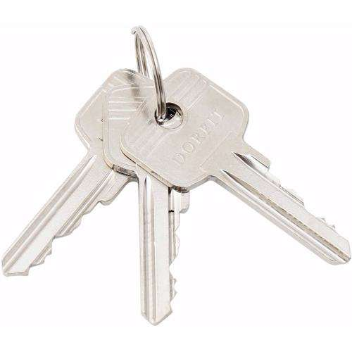 Double Cylinder Lock with Key for Doors 5 Pin Silver 100 mm