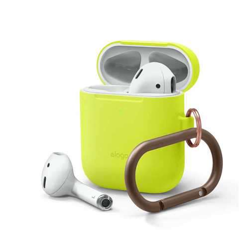 Elago Skinny Hang Case for Apple Airpods - Neon Yellow
