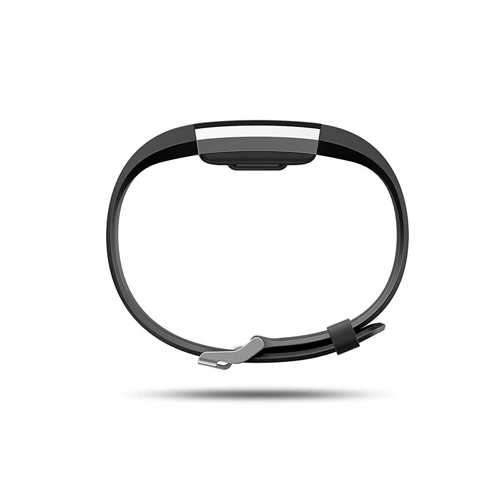 Fitbit Charge 2 Fitness Wristband with Heart Rate Tracker - Black (L)