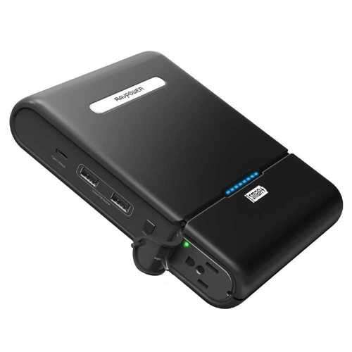 RAVPower 27000mAh Universal Power Bank with Built-in AC Outlet - Black