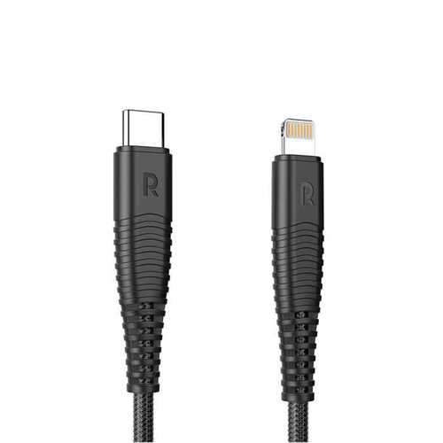 RavPower Charge & Sync USB Cable with Type-C to Lightning Connector 1m - Black