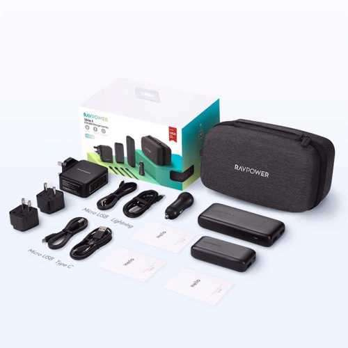 RAVPower 10 in 1 Portable Charger Combo - Black