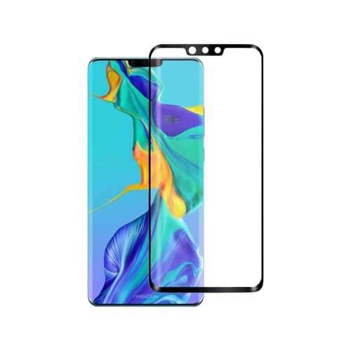 Porodo 3D Curved Edge Tempered Glass Screen Protector for Huawei Mate 30 Pro - Black