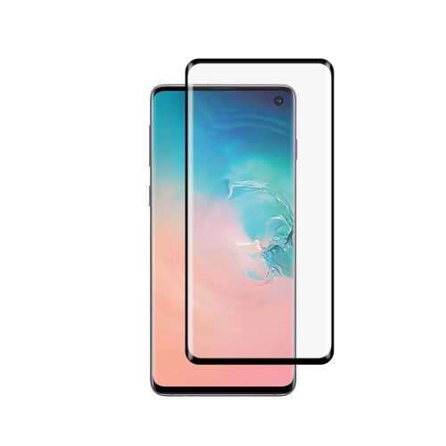 Porodo 3D Full Covered Tempered Glass Screen Protector 0.25mm for Samsung Galaxy S10 - Black