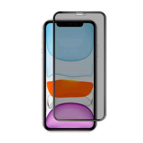 Porodo 3D Curved Edge Glass Privacy Protection for iPhone 11 Pro Max - Black
