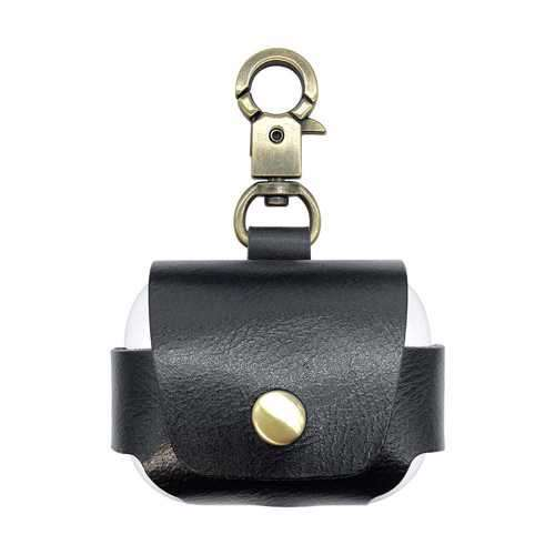 iGuard by Porodo Leather Hang Case for Airpods Pro - Black