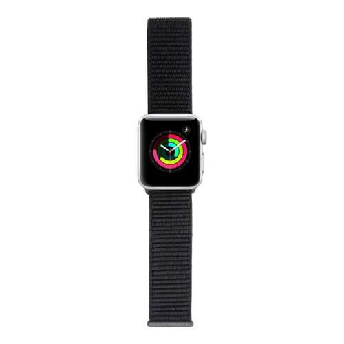 iGuard by Porodo Nylon Watch Band For Apple Watch 44mm/42mm - Black / Anchor Gray