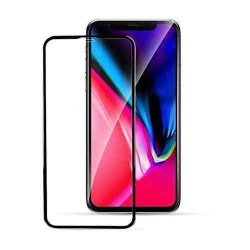 Porodo 3D Curved Edge Glass for iPhone 11 - Black