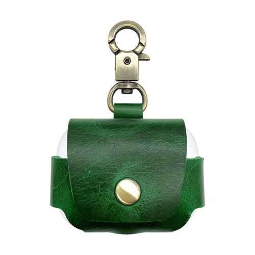 iGuard by Porodo Leather Hang Case for Airpods Pro - Green