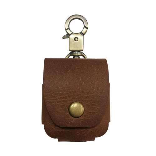 iGuard by Porodo Leather Hang Case for Airpods - Brown