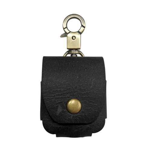 iGuard by Porodo Leather Hang Case for Airpods - Black