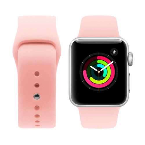 iGuard by Porodo Silicone Watch Band for Apple Watch 44mm / 42mm - Biege