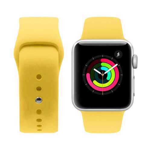 iGuard by Porodo Silicone Watch Band for Apple Watch 44mm / 42mm - Yellow