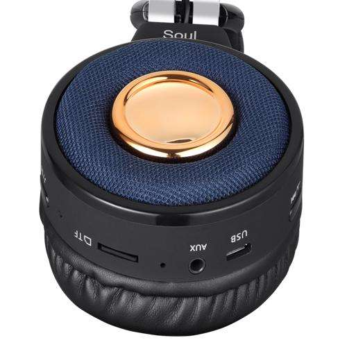 ZB-Soul Premium Bluetooth Headphone with TF/FM Radio/ Aux-in and Microphone - Black