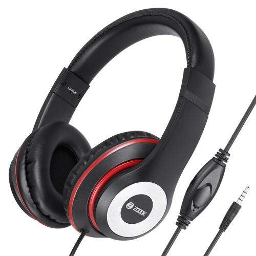 ZM-Thump Wired Headphone with Mic & extra BASS - Black+Red