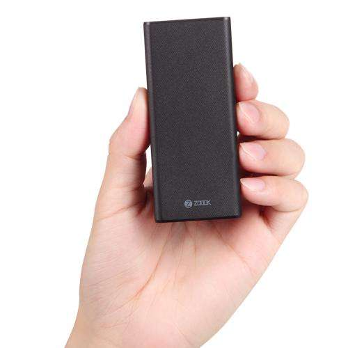 ZP-TinyCharge10-BK Zoook ZP-TinyCharge10-World''''s Smallest Superfast 10000mah Polymer Power Bank - Black