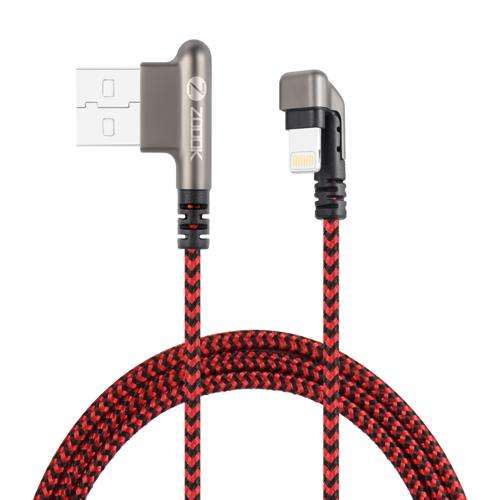 ZF-iElbow 180 Zoook ZF-iElbow U Shape Metal Connector Pure Copper Cable- Nylon Braided Red/Black