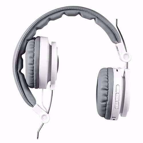 Zoook X1000 Wired/Wireless Headphones Supporting Bluetooth Play / FM Radio / Aux Input / Micro SD Card / Handsfree Calls - White