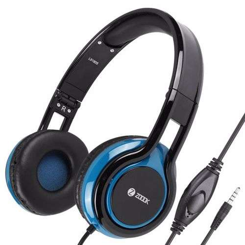 Zoook Sublime Wired Headphone with Mic & extra BASS - Black+Blue