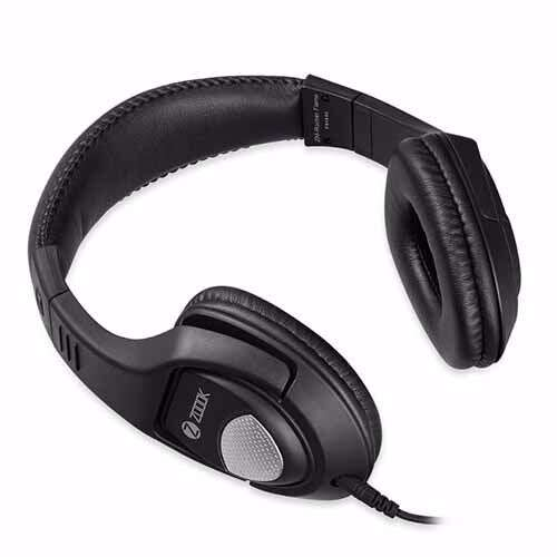 Zoook ZM Rocker Flame Headphone with Mic & extra BASS Single 3.5mm Connector - Black