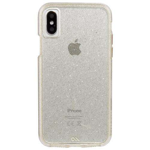CASE-MATE iPhone XS/X Sheer Glam Case Champagne