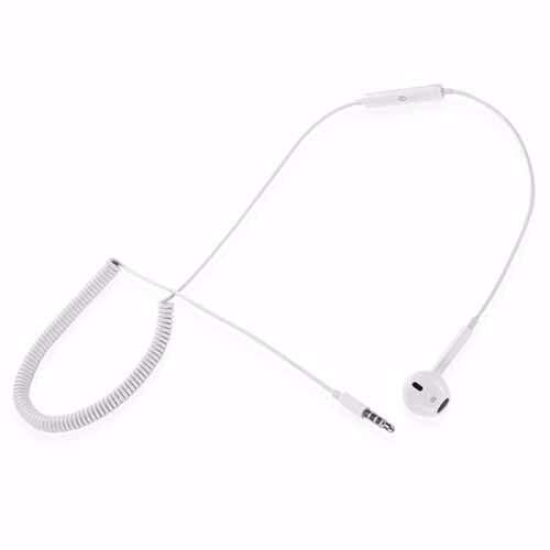 Zoook Single Ear headset, with retractable spring - White