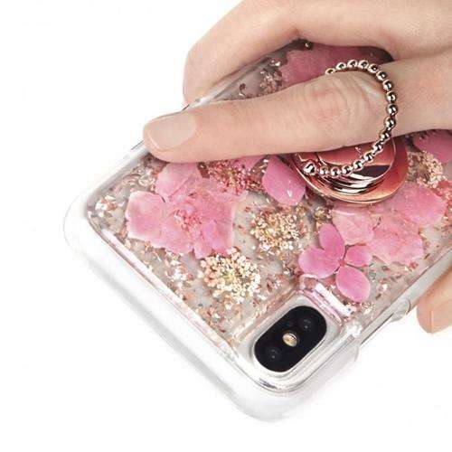 CASE-MATE Phone Dotted Ring Holder Phone Grip Stand Universal Rose Gold