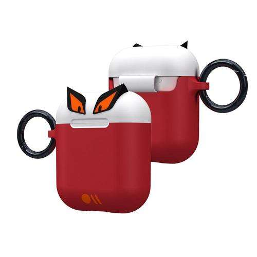 CASE-MATE CreaturePods AirPods Case - Edge The Bad Boy - White/Red