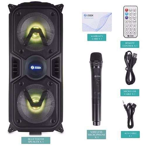Zoook Rocker Thunder 40 watts Bluetooth Speaker with Karaoke Mic/TF/FM/LED/USB/Party Speaker - Black