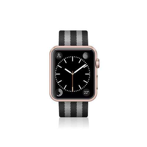 CASETIFY Apple Watch Band Nylon Fabric All Series 38mm Black Stripes